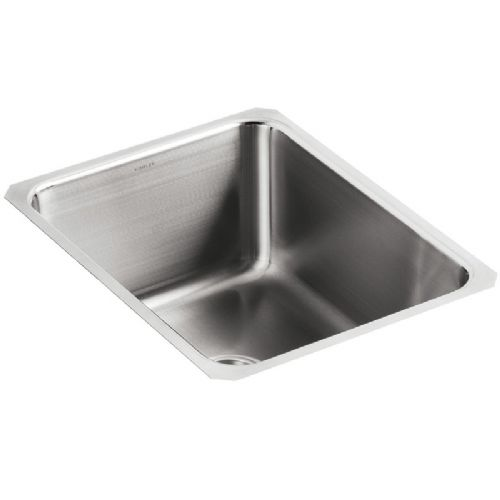 Kohler Icerock Stainless Steel Under-Mount Kitchen Bowl - 3163-NA